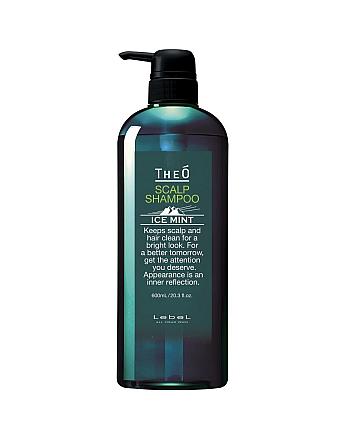 Lebel Theo Scalp Shampoo Ice Mint - Шампунь для мужчин с водой альпийских ледников 600 мл - hairs-russia.ru