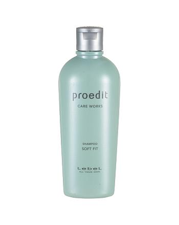 Lebel Proedit Care Works Soft Fit Shampoo - Шампунь для жестких и непослушных волос 300 мл - hairs-russia.ru