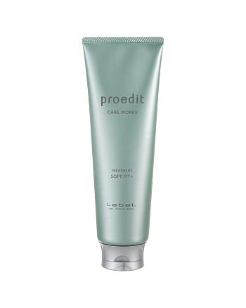 Lebel Proedit Care Works Soft Fit Plus Treatment - Маска для жестких, непослушных/очень поврежденных волос 250 мл - hairs-russia.ru