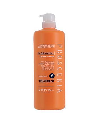 Lebel Proscenia Treatment M - Маска для окрашенных волос и волос после химического выпрямления 980 мл - hairs-russia.ru