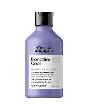 L'Oreal Professionnel Serie Expert Blondifier Cool - Шампунь для нейтрализации желтизны холодных оттенков блонд, 300 мл - hairs-russia.ru