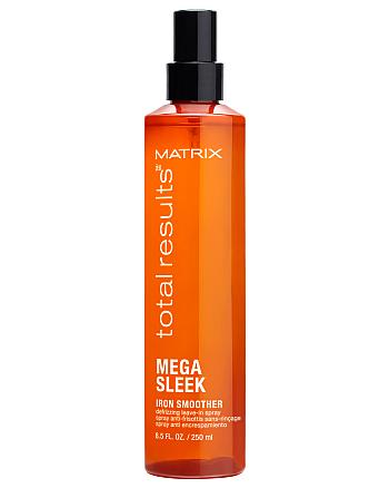 Matrix Total Results Mega Sleek Iron Smoother - Средство для разглаживания волос с термозащитой, 250 мл - hairs-russia.ru