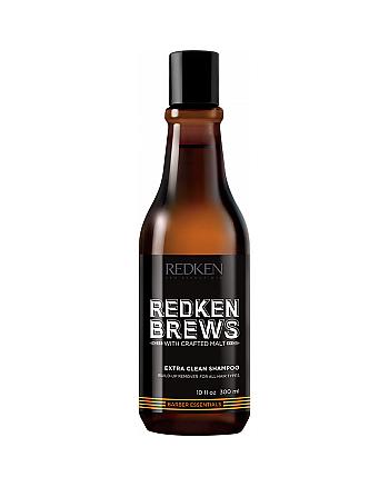 Redken Brews Extra Clean Shampoo - Шампунь для интенсивного очищения 300 мл - hairs-russia.ru