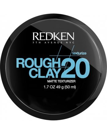 Redken Rough Clay 20 - Пластичная текстурирующая глина с матовым эффектом 50 мл - hairs-russia.ru