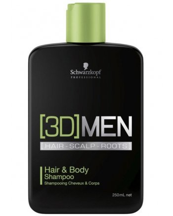 Schwarzkopf [3D] Men Hair & Body Shampoo - Шампунь для волос и тела 250 мл - hairs-russia.ru