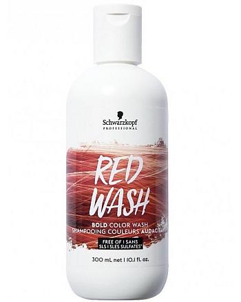 Schwarzkopf Color Wash Red - Пигментированный шампунь красный 300 мл - hairs-russia.ru
