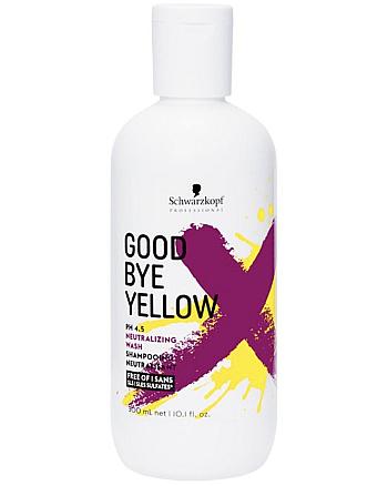 Schwarzkopf Goodbye Yellow Shampoo - Нейтрализующий шампунь 300 мл  - hairs-russia.ru