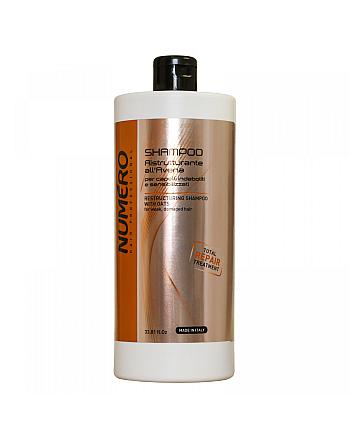 Brelil Numero Restructuring Shampoo With Oats - Шампунь для ослабленных и чувствительных волос 1000 мл - hairs-russia.ru
