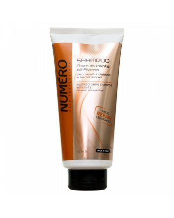 Brelil Numero Restructuring Shampoo With Oats - Шампунь для ослабленных и чувствительных волос 300 мл - hairs-russia.ru
