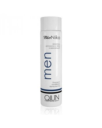 Ollin BioNika Men Shampoo Hair&Body Refreshening Шампунь для волос и тела освежающий 250 мл - hairs-russia.ru