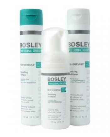 Bosley Воs Defense Starter Pack for Non Color-Treated Hair - Система для нормальных/тонких неокрашенных волос (шампунь, кондиционер, уход) 150 мл+150 мл+100 мл