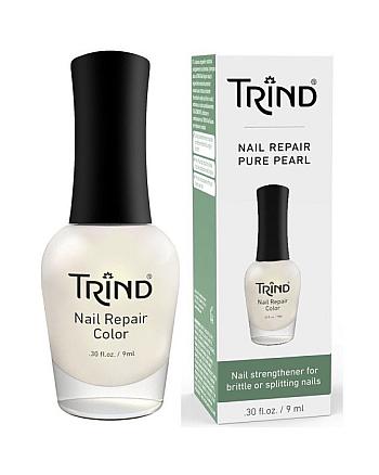 Trind Nail Repair Pure Pearl - Укрепитель для ногтей (белый перламутр) 9 мл - hairs-russia.ru