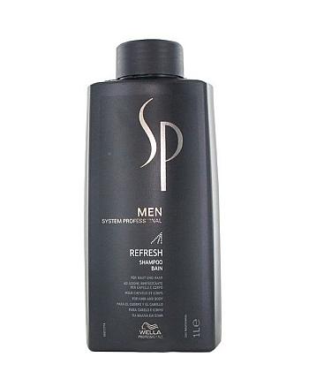 Wella SP Men Refresh Shampoo Освежающий шампунь 1000 мл - hairs-russia.ru